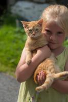 Katze und Martina